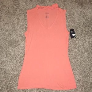 Peach Stretch Tank Top